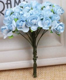 Bloemen 1cm lichtblauw