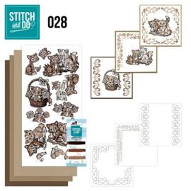 STDO028 Stitch and Do 28 - Brown cats