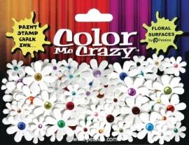 1513-000 : Petaloo color me crazy jeweled florettes colored centers