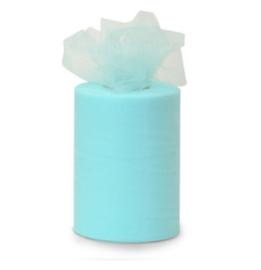 Tule 15 cm breed licht, baby blauw