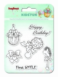 ScrapBerry's Set Of Clear Stamps - Kids'Fun SCB4901012b