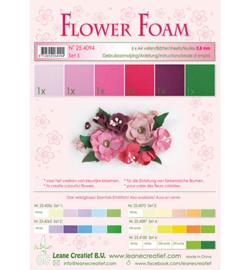 Leane Creatief flower foam 254094 - Set 5 Red – Pink Colours