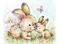 Wild Rose Studio Clearstamp CL451 Spring Bunnies