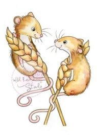 Wild Rose Studio Clear stamp CL493 Harvest Mice