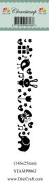 Dixi craft Clearstamp STAMP0062 Cute Animal Border 2