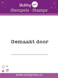 Hobbyidee - Clearstamp - Tekst - Gemaakt door ..... - HI-STAMP-0051