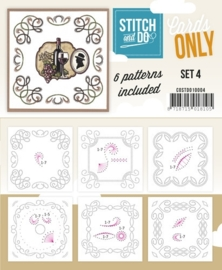 COSTDO10004  Stitch & Do - Cards only - Set 4