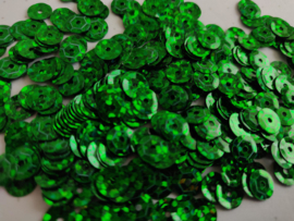 Pailletten 6mm groen disco