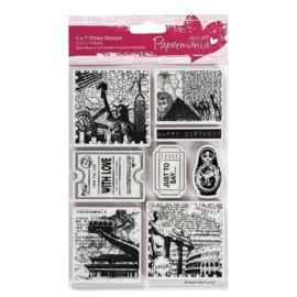 PMA 907210  5x7 Urban Stamps - Bookprint (Around The World 1)