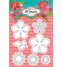 Studio Light - STENCILSL94 - Embossing Die Cut Stencil 3D Flowers nr.94