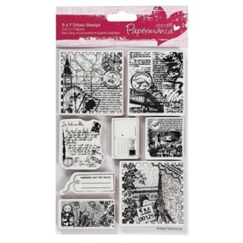 PMA 907211  5x7 Urban Stamps - Bookprint (Around The World 2)