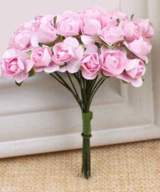 Bloemen 1cm roze