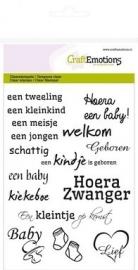 CraftEmotions 130501/1149  tekst NL geboorte