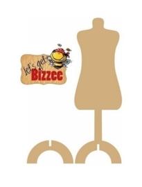 Let's get Bizzee Paspop met voetje MDF 461.692.230