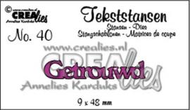 Crealies - Tekststans no 40 Getrouwd CLTS40