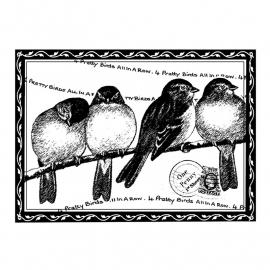 Crafty Individuals CI-193 Four Pretty Birds