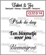 Crealies - Tekst & Zo stempels diversen CLTZD14 130505/1714
