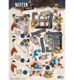 Studio Light - EASYWT630 - Easy 3D A4 Stansvel Winter Trails, nr 630