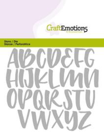 CraftEmotions Die 115633/0426 - alfabet handlettering hoofdletters