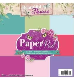 Studio Light - Paper Pad - Beautiful Flowers nr.34 PPBF34
