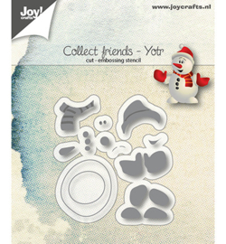 6002/1111 - Snij-embosstencil - Collect Friends - Yotr