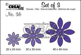 Crealies CLSet 36 Set of 3 stansen 36