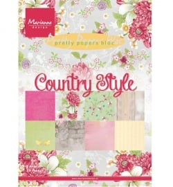 Marianne Design - Pretty Papers - A5 - Country style PK9130