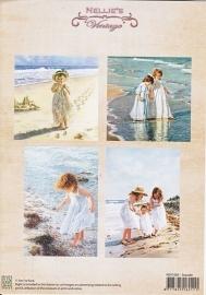 A4 knipvel Nellie's Vintage Seaside NEVI005