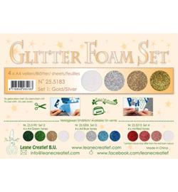 Leane Creatief flower foam 255183 - Set 1 gold /silver