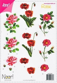 "Joy crafts Noor Design 6010/2006 ""Rose"""