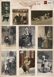 Marianne Design- A4 knipvel Vintage Christmas cards 2 VK9538