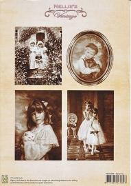 "A4 knipvel Nellie's Vintage NEVI-004 ""dancing"""