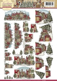 Yvonne Creations CD10692 Traditional Christmas - Huisjes