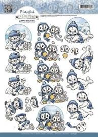 Yvonne Creations - CD10432  3D Knipvel - Playful Winter - Polar Animals