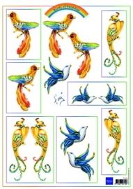 Marianne Design Birds Blue IT554