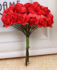 Bloemen 1cm rood