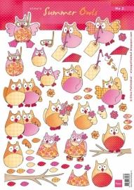 Marianne Design Eline's Summer Owls no. 2 AK0058