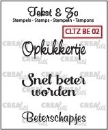 Crealies - Tekst&Zo Beterschap 2 CLTZBE02