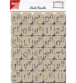 6002/0842 Scrapbooking Stencil Alfabet