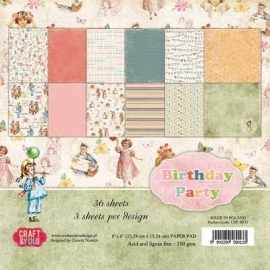 Craft & You Design paperpack-Birthday Party 6x6
