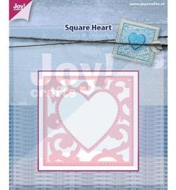 6002/0445 Cutting - Vierkant met hart