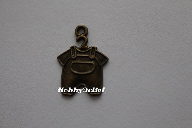 Babypakje brons - 22x16 mm