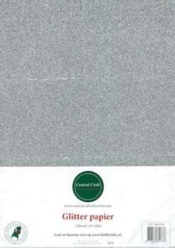 Glitterpapier dun zilver CCC-280-016