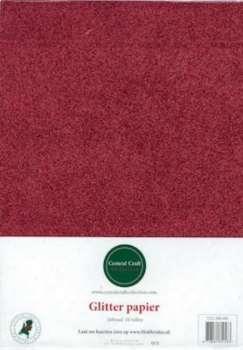 Glitterpapier dun rood CCC-280-001