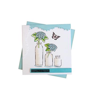6004/0031 - Stencils & Stamps - Mery's Hydrangeas