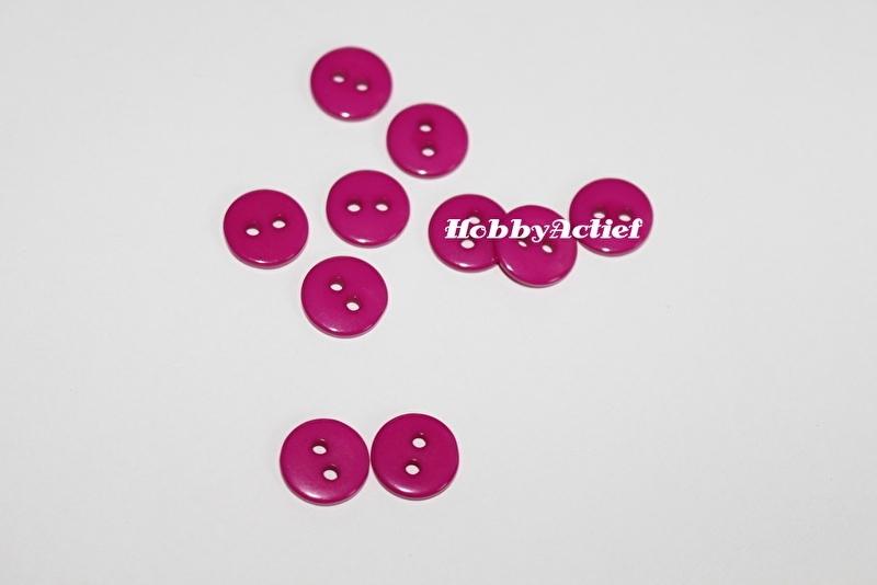 Roze knoopjes 10 stuks 11 mm