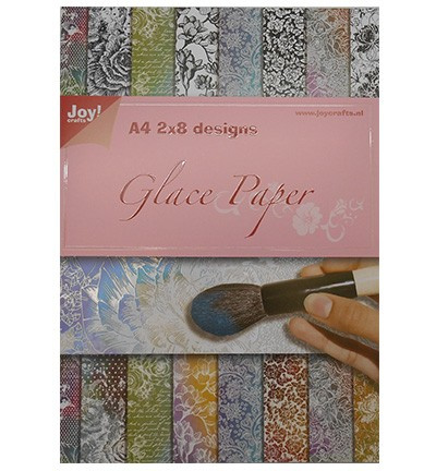 Joy!Crafts - Paperpack - Glace paper - Flowers - 6013/0529