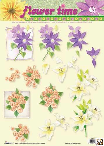 Studio Light - Flower time - STAPFL03