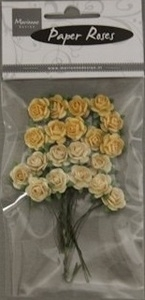 Marianne Design Paper Roses RB2213 yellow