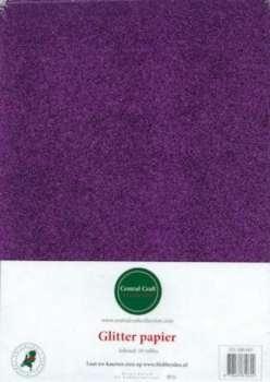 Glitterpapier dun paars CCC-280-007
